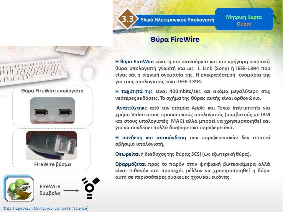Θύρα FireWire υπολογιστή