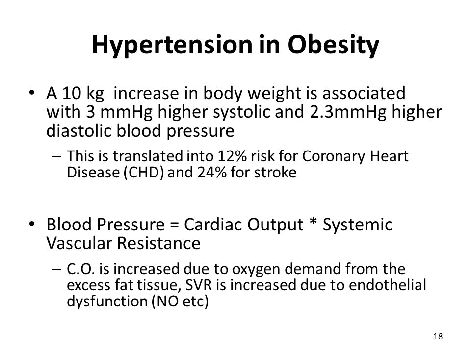 Hypertension in Obesity