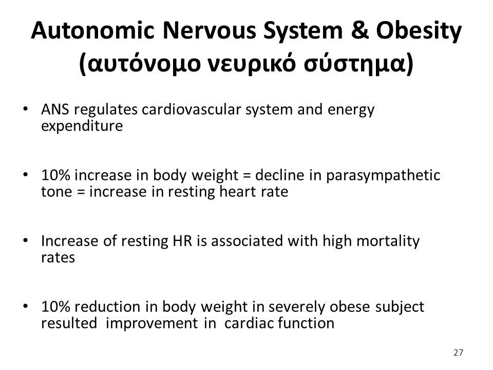 Autonomic Nervous System & Obesity (αυτόνομο νευρικό σύστημα)