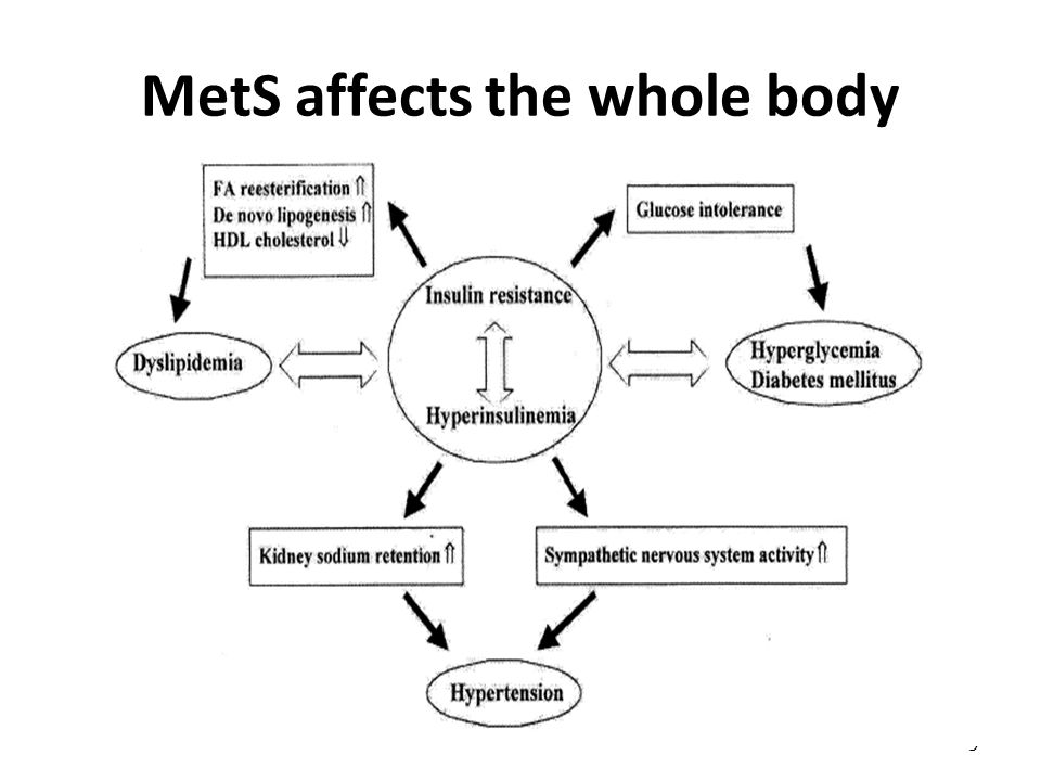 MetS affects the whole body