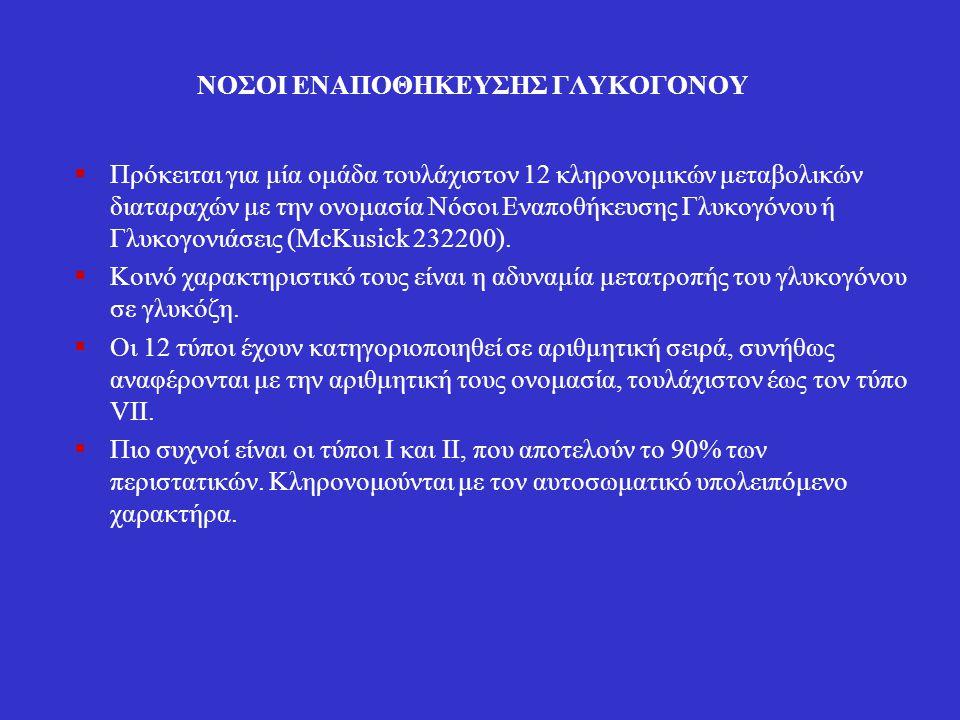 ΝΟΣΟΙ ΕΝΑΠΟΘΗΚΕΥΣΗΣ ΓΛΥΚΟΓΟΝΟΥ