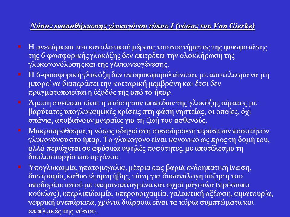 Νόσος εναποθήκευσης γλυκογόνου τύπου Ι (νόσος του Von Gierke)