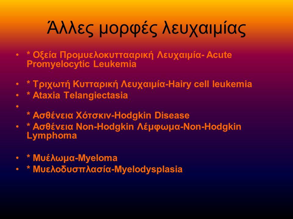 Άλλες μορφές λευχαιμίας