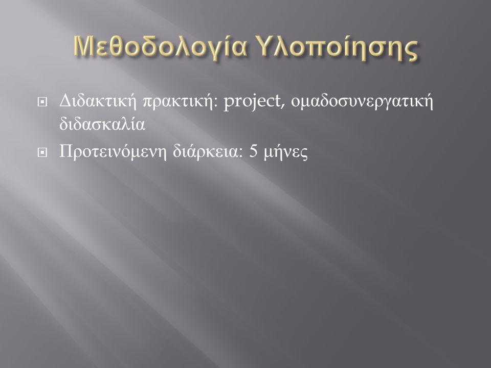 Διδακτική πρακτική: project, ομαδοσυνεργατική διδασκαλία