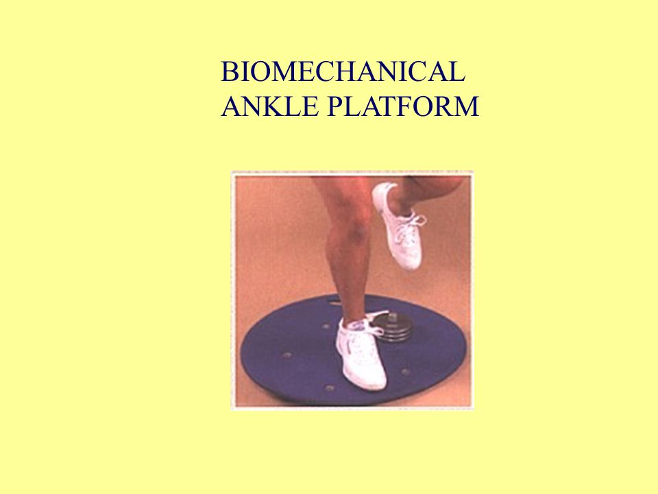 BIOMECHANICAL ANKLE PLATFORM