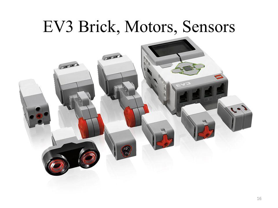 EV3 Brick, Motors, Sensors