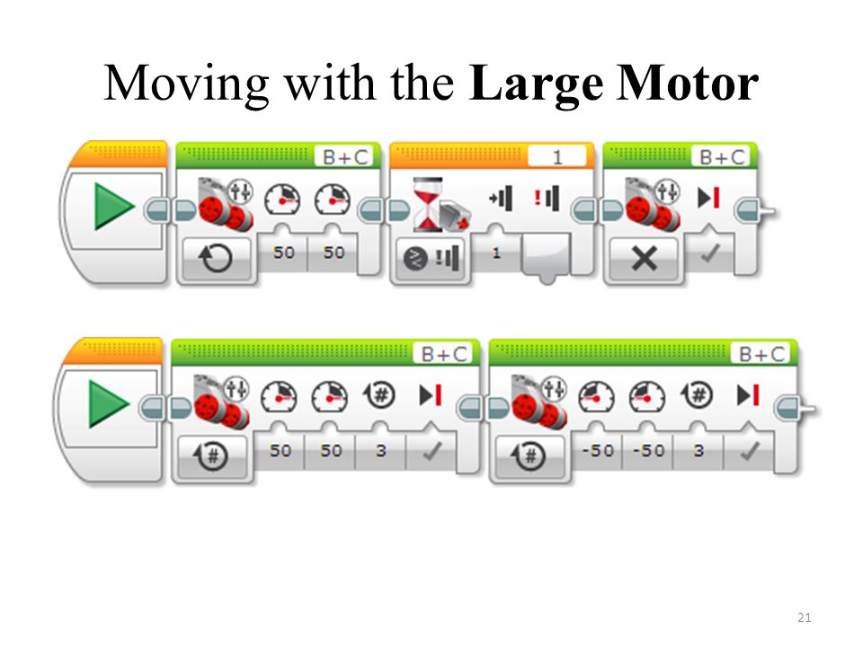 Moving with the Large Motor