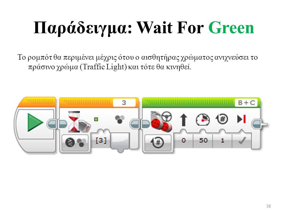 Παράδειγμα: Wait For Green