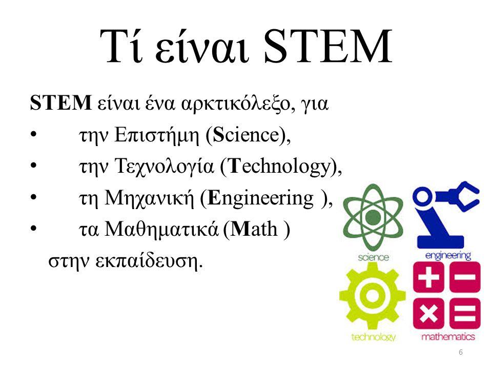 Tί είναι STEM STEM είναι ένα αρκτικόλεξο, για την Επιστήμη (Science),