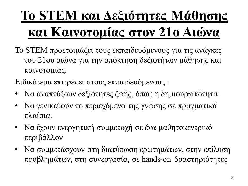 Το STEM και Δεξιότητες Μάθησης και Καινοτομίας στον 21ο Αιώνα