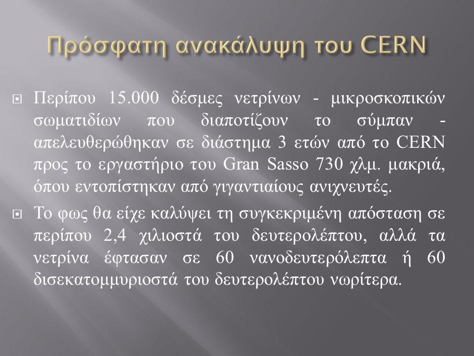 Πρόσφατη ανακάλυψη του CERN
