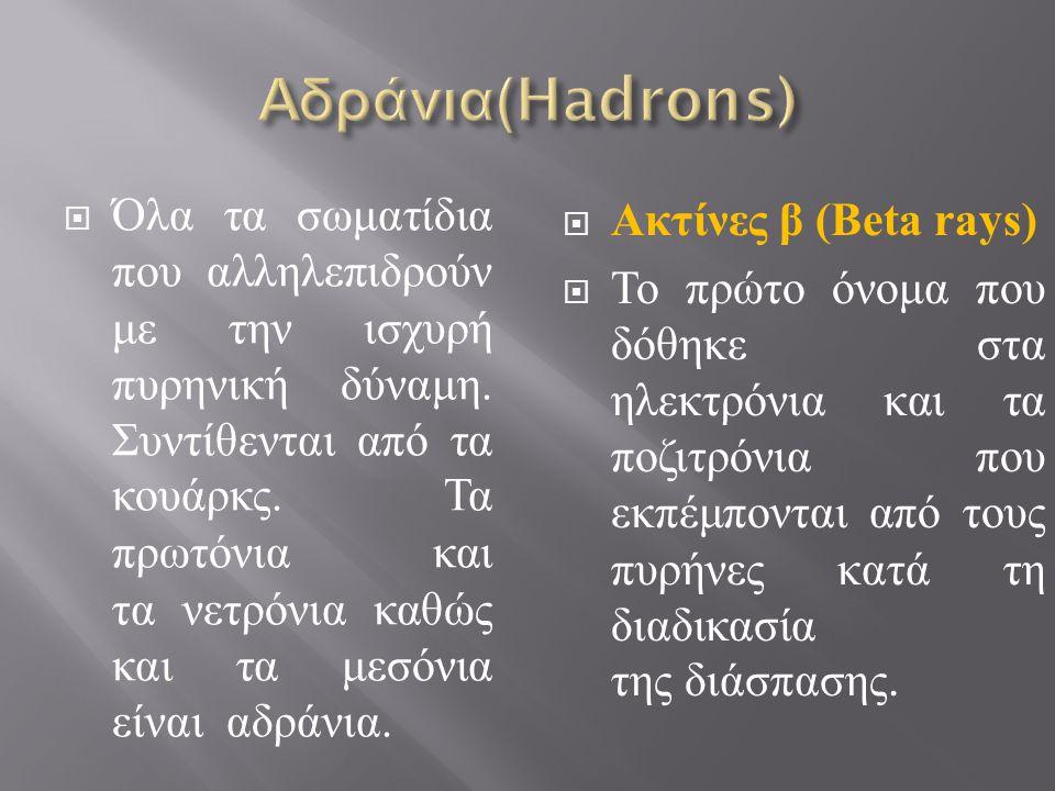Αδράνια(Hadrons)