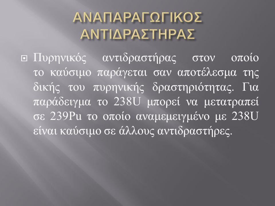 ΑΝΑΠΑΡΑΓΩΓΙΚΟΣ ΑΝΤΙΔΡΑΣΤΗΡΑΣ