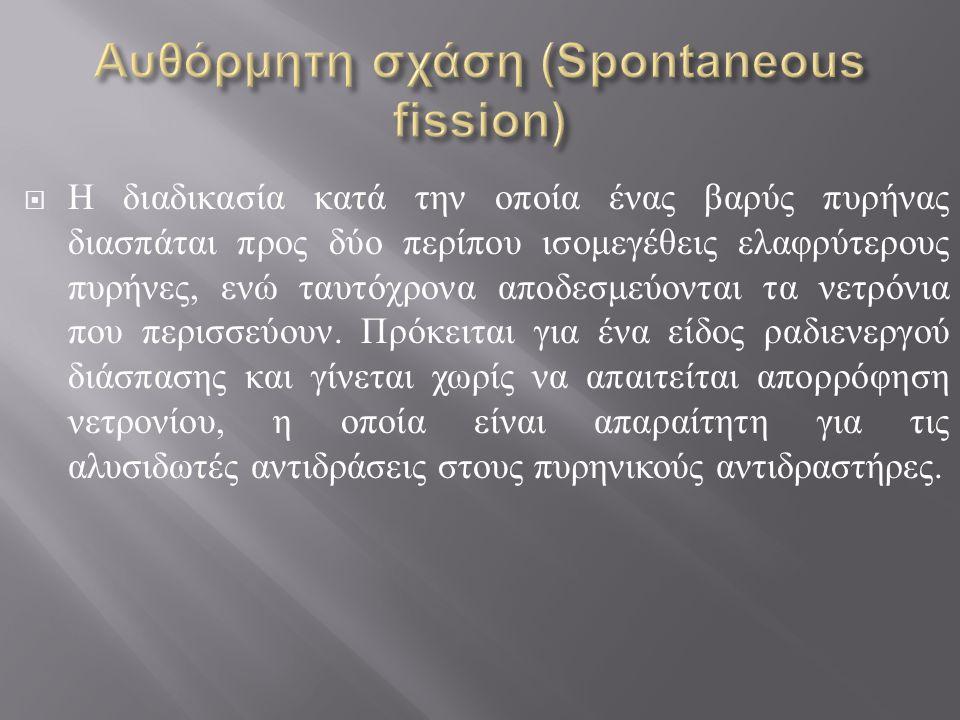 Αυθόρμητη σχάση (Spontaneous fission)