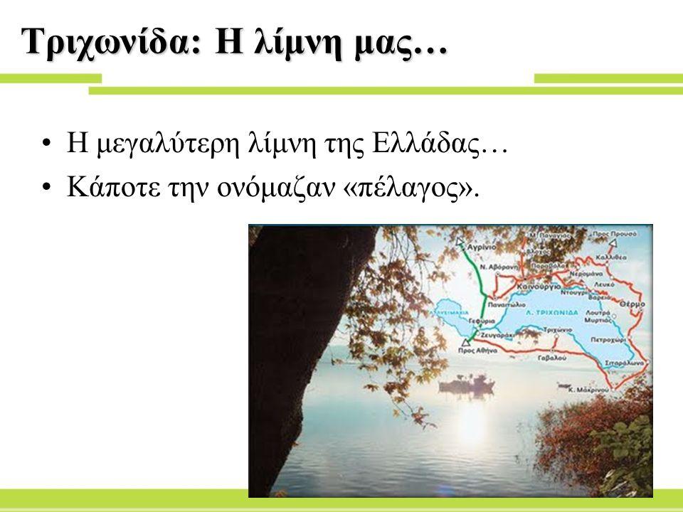 Τριχωνίδα: Η λίμνη μας…