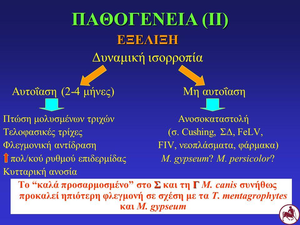 ΠΑΘΟΓΕΝΕΙΑ (IΙ) ΕΞΕΛΙΞΗ Δυναμική ισορροπία