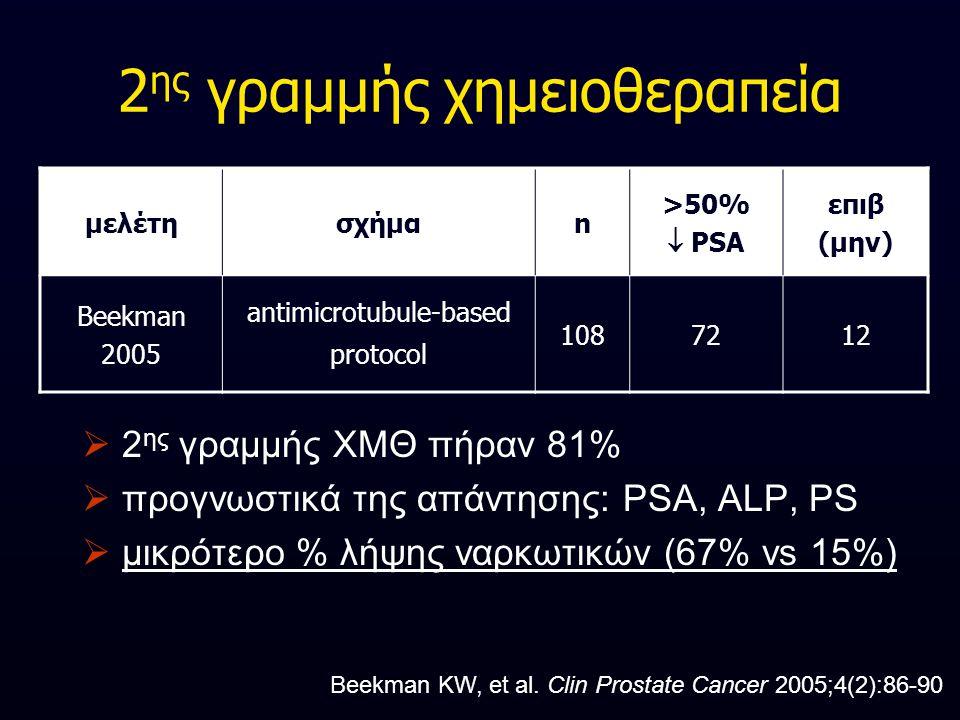 2ης γραμμής χημειοθεραπεία
