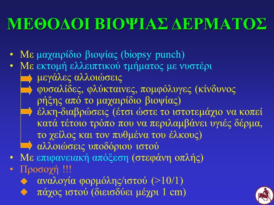 ΜΕΘΟΔΟΙ ΒΙΟΨΙΑΣ ΔΕΡΜΑΤΟΣ