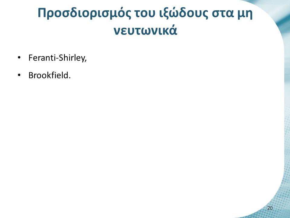 Feranti-Shirley Τοποθετείται το προϊόν στο κέντρο της πλάκας και περιστρέφεται ο κώνος σε διάφορες ταχύτητες.