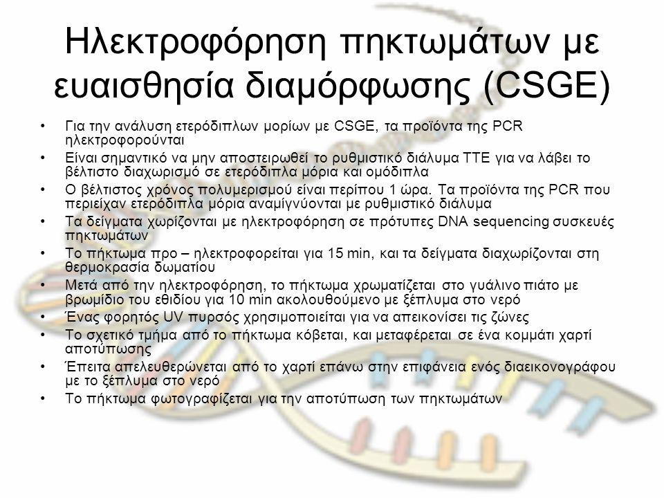 Ηλεκτροφόρηση πηκτωμάτων με ευαισθησία διαμόρφωσης (CSGE)