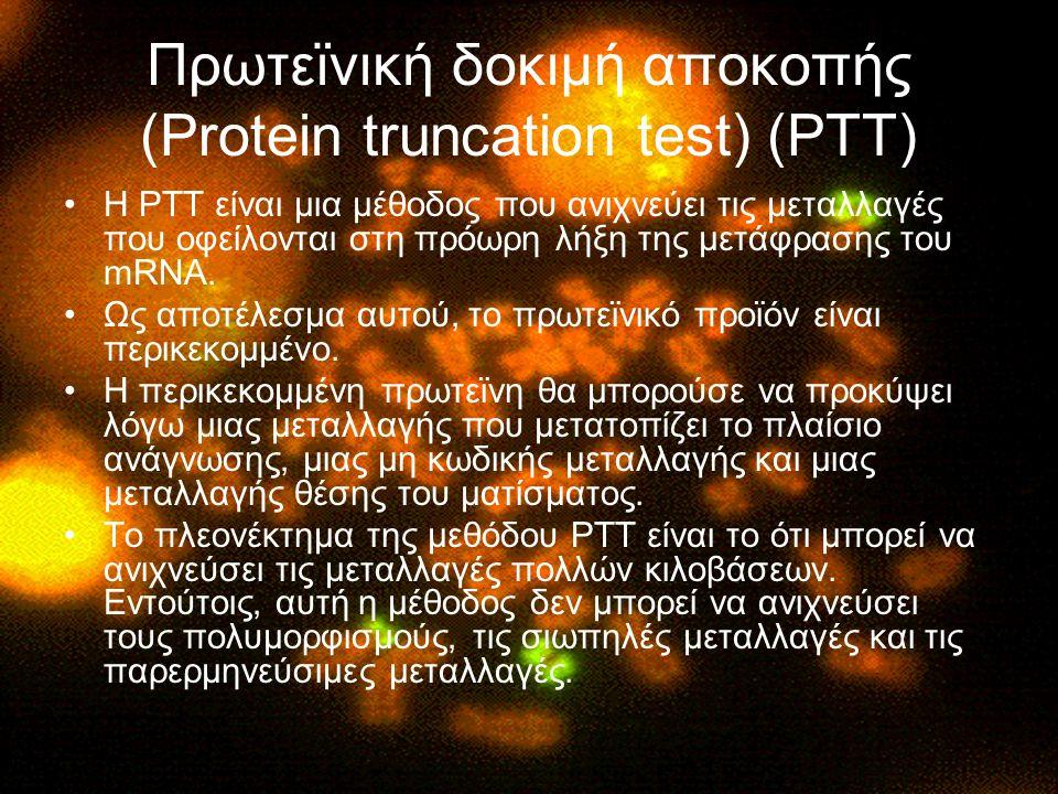 Πρωτεϊνική δοκιμή αποκοπής (Protein truncation test) (PTT)