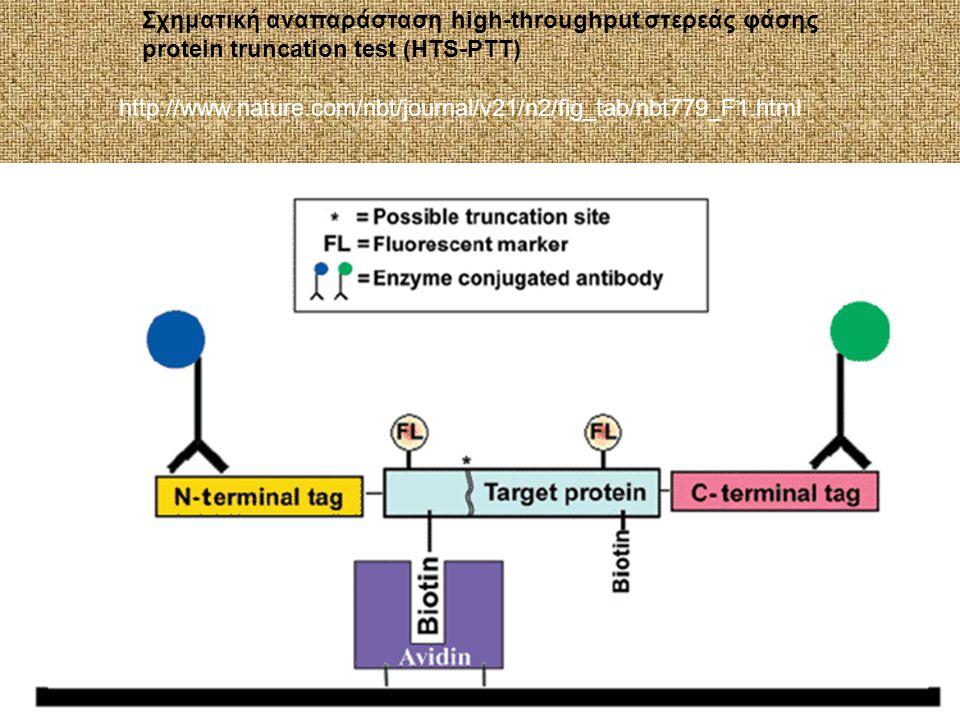 Σχηματική αναπαράσταση high-throughput στερεάς φάσης