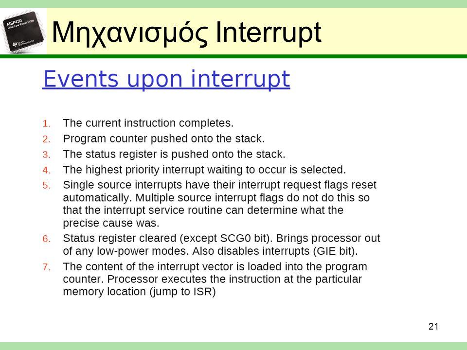 Μηχανισμός Interrupt