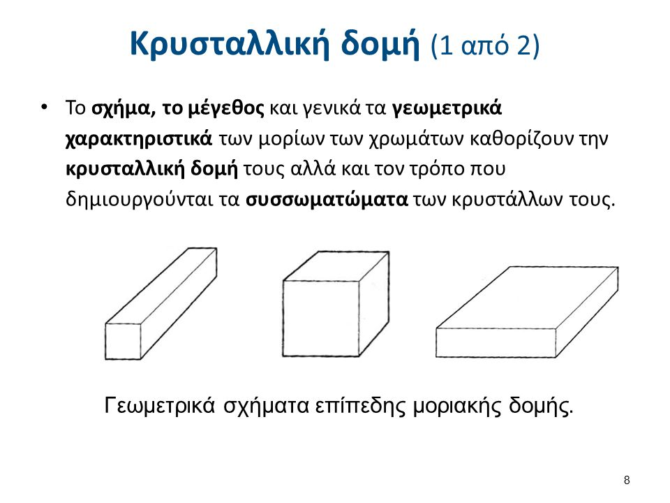 Κρυσταλλική δομή (2 από 2)
