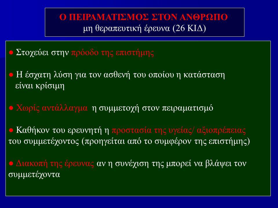 Ο ΠΕΙΡΑΜΑΤΙΣΜΟΣ ΣΤΟΝ ΑΝΘΡΩΠΟ