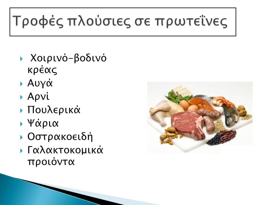 Τροφές πλούσιες σε πρωτεΐνες