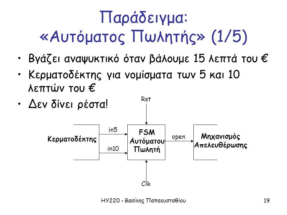 Παράδειγμα: «Αυτόματος Πωλητής» (1/5)