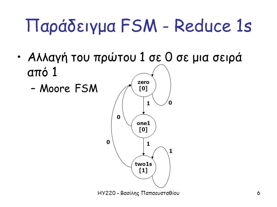 Παράδειγμα FSM - Reduce 1s