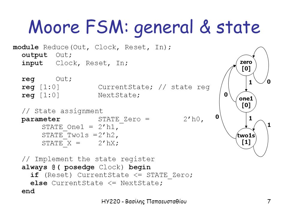 Moore FSM: general & state