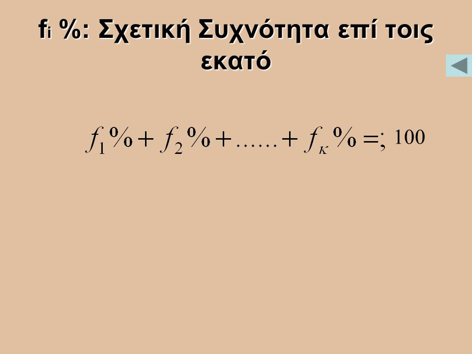 fi %: Σχετική Συχνότητα επί τοις εκατό