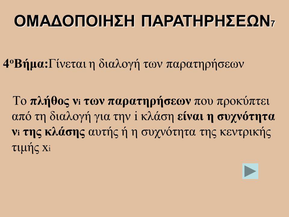 ΟΜΑΔΟΠΟΙΗΣΗ ΠΑΡΑΤΗΡΗΣΕΩΝ7