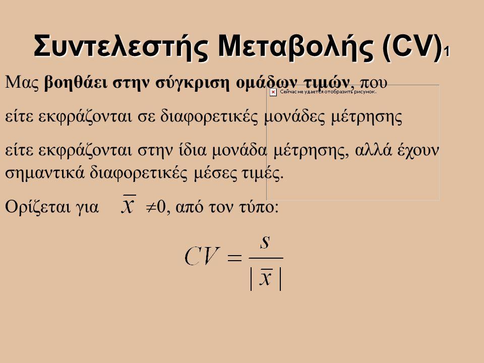 Συντελεστής Μεταβολής (CV)1