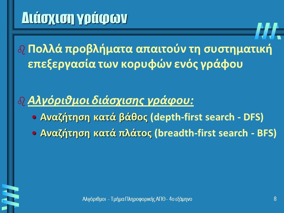 Αλγόριθμοι - Τμήμα Πληροφορικής ΑΠΘ - 4ο εξάμηνο