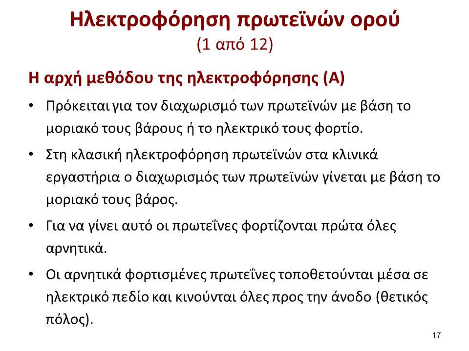 Ηλεκτροφόρηση πρωτεϊνών ορού (2 από 12)