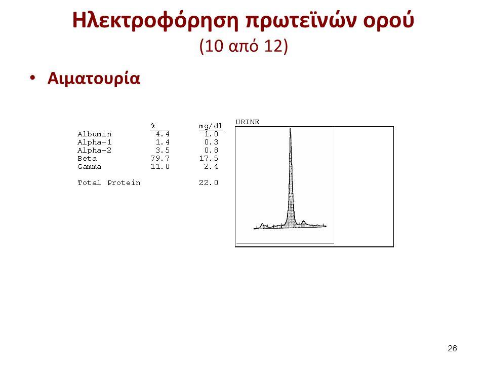Ηλεκτροφόρηση πρωτεϊνών ορού (11 από 12)