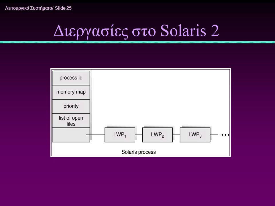 Διεργασίες στο Solaris 2