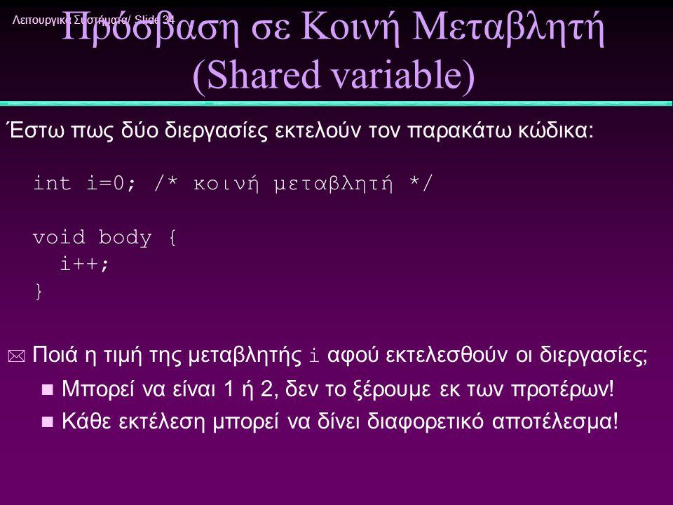 Πρόσβαση σε Κοινή Μεταβλητή (Shared variable)