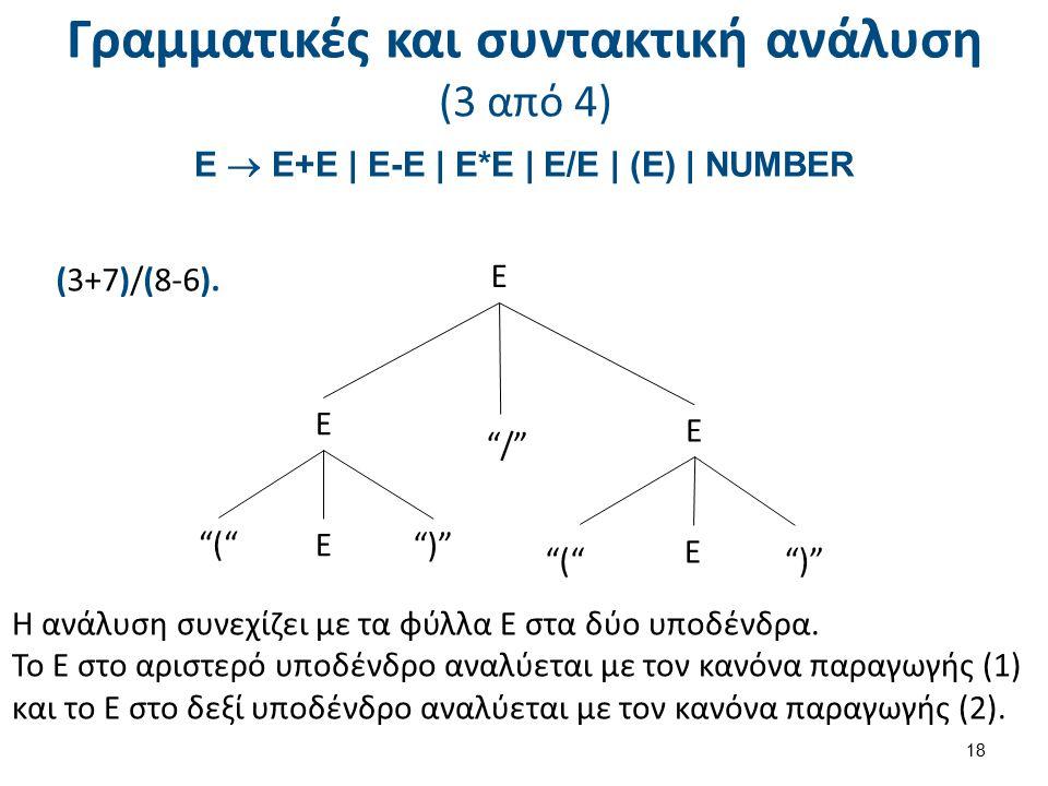 Γραμματικές και συντακτική ανάλυση (4 από 4)