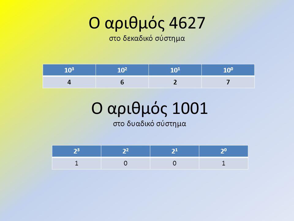 Ο αριθμός 4627 στο δεκαδικό σύστημα