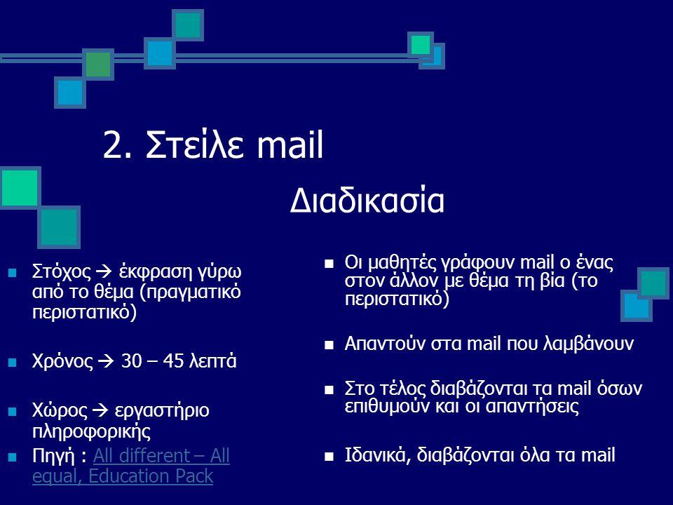 2. Στείλε mail Διαδικασία