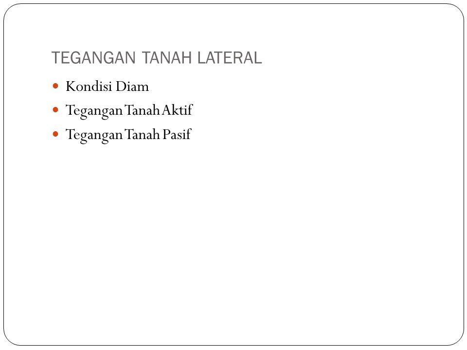 TEGANGAN TANAH LATERAL
