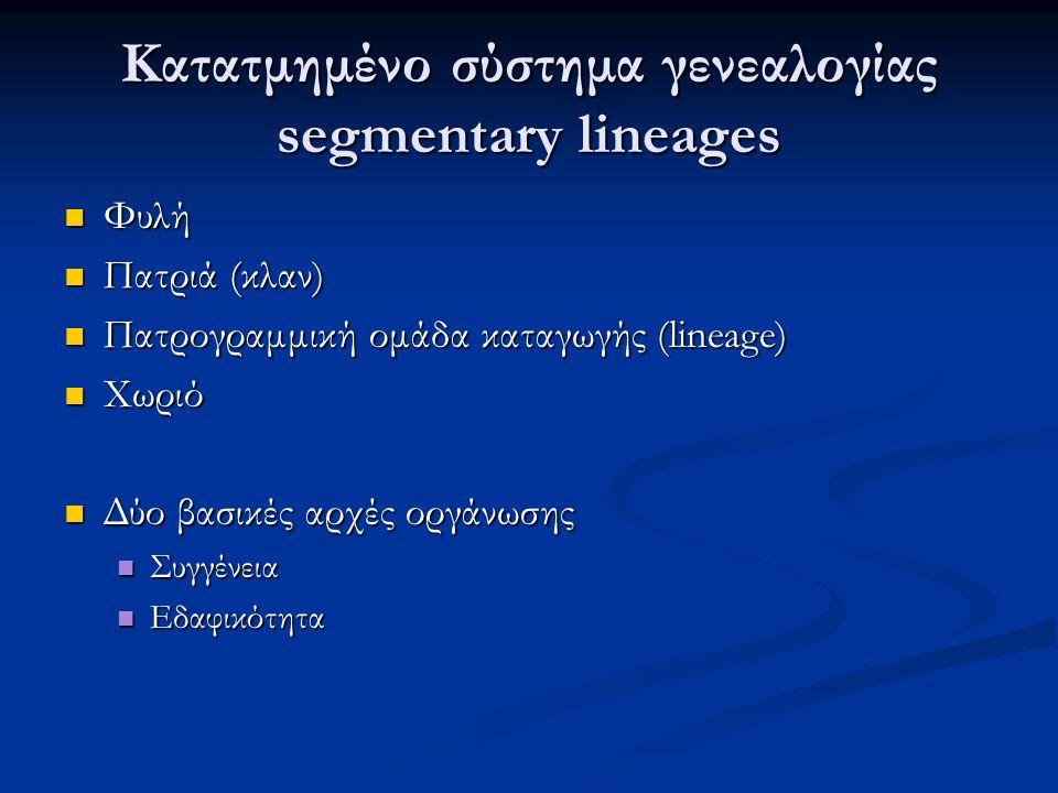 Κατατμημένο σύστημα γενεαλογίας segmentary lineages
