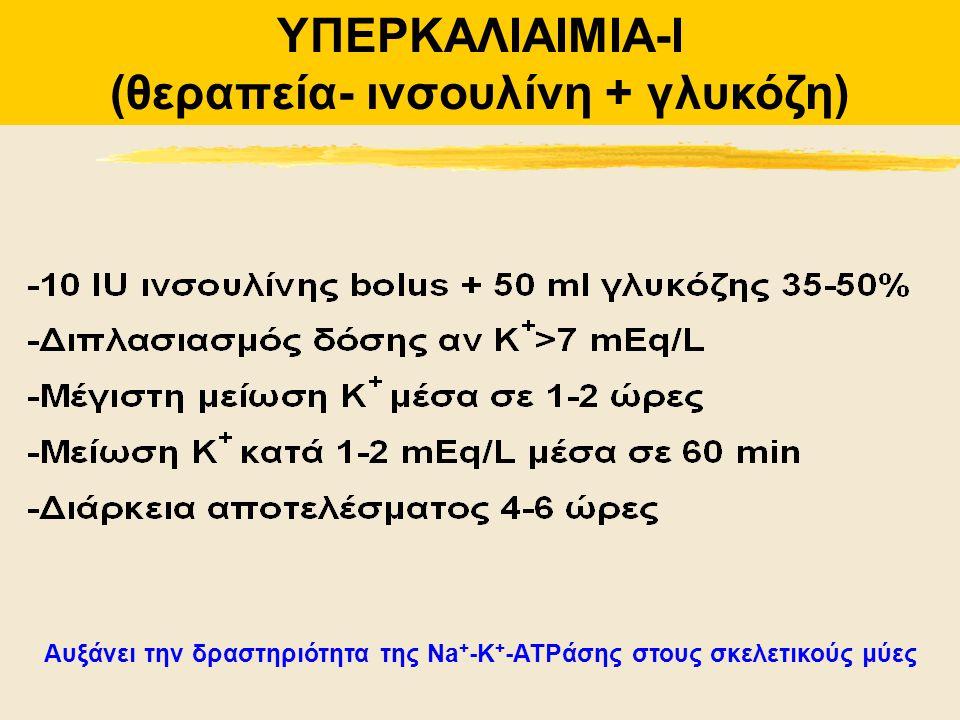 ΥΠΕΡΚΑΛΙΑΙΜΙΑ-I (θεραπεία- ινσουλίνη + γλυκόζη)