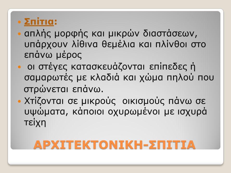 ΑΡΧΙΤΕΚΤΟΝΙΚΗ-ΣΠΙΤΙΑ