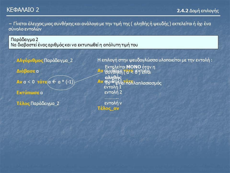 ΚΕΦΑΛΑΙΟ 2 2.4.2 Δομή επιλογής