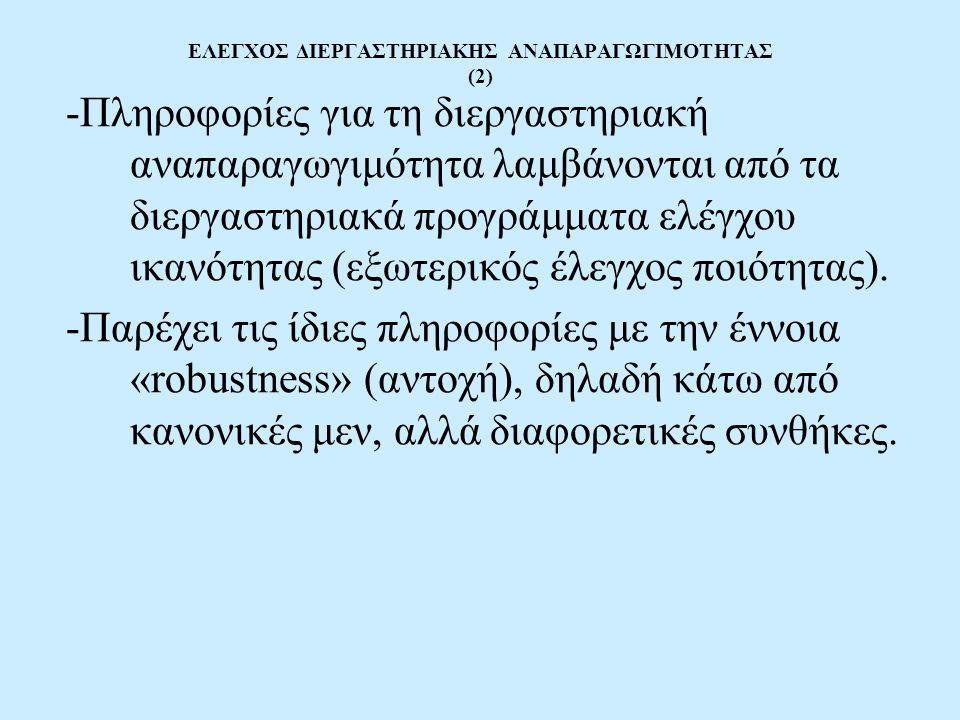ΕΛΕΓΧΟΣ ΔΙΕΡΓΑΣΤΗΡΙΑΚΗΣ ΑΝΑΠΑΡΑΓΩΓΙΜΟΤΗΤΑΣ (2)